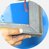 Комбинированные пресс-ножницы. Рубка уголка под углом 45 градусов.