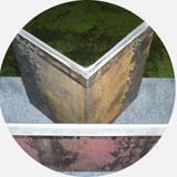 Комбинированные пресс-ножницы. Образец рубки уголка 100 х 100 х 12мм.