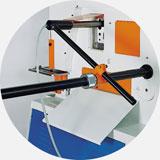 Электро-механический упор с датчиком, для автоматизации рубки.